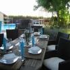 Villa climatis�e avec piscine chauf�e a 28�c en plein coeur des vignobles du bordelais